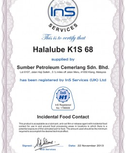 Halalube K1S 68